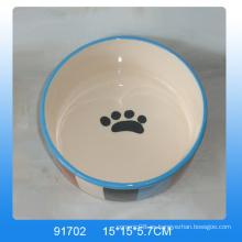 Plato de cerámica encantadora para mascotas