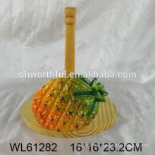 Support de tissu en céramique en forme d'ananas populaire
