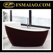Baignoire autoportante acrylique rouge et blanche de conception spéciale de salle de bains (9012)