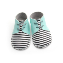 Stripe Oxford Baby Shoes Atacado