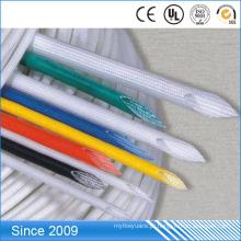 Fibra de vidro trançada protetora revestida do silicone do vidro de fibra 2.5kv revestida
