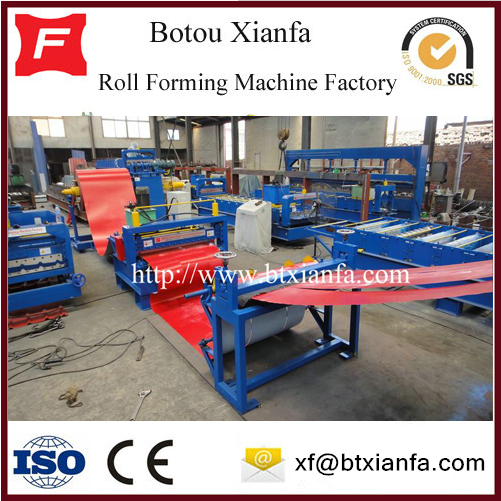 Uncoiling Flatting Slitting Cutting Production Line