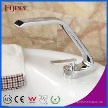 Fyeer Verchromt Basin Wasserhahn mit Single Handle Hot & Cold Mischbatterie