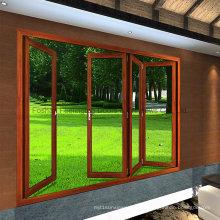 Porte pliante en aluminium à plusieurs couleurs intérieures