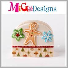 Pão De Gengibre De Natal Decoração Do Guardanapo De Cerâmica