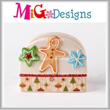 Рождественский имбирь Хлеб Керамический салфетка украшения владельца