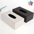 Caixa de tecido PU de retângulo high-end (ZJH060)
