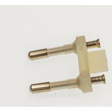 plug insert with 4.0mm 4.8mm 2 pins (6/10a german schuko plug & socket) VDE CE PBT COPPER