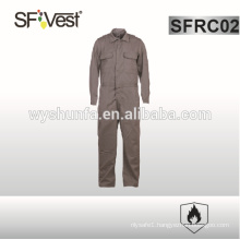 flame retardant fabric mens fashion overalls with mulit pockets , NFPA 2112