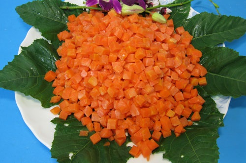 Vitamins in Frozen Diced Carrot