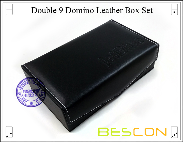 Double 9 Domino Leather Box Set-3