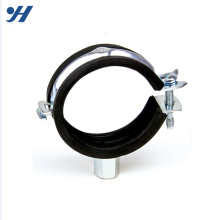 Hot Sale Good Reputation One Screw Gi Pipe Clamp with Rubber