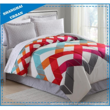 Colorblock Zig-Zag Polycotton Printed Quilt Cover Set