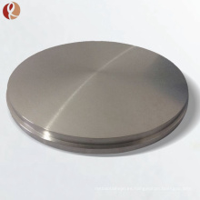 Objetivo de pulverización de titanio redondo puro puro de venta caliente