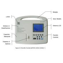 Eletrocardiógrafo digital de três canais da máquina de ECG