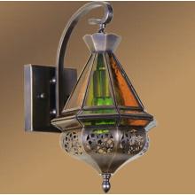 Lampe murale Lanterne en laiton marocaine (L1107-1S)