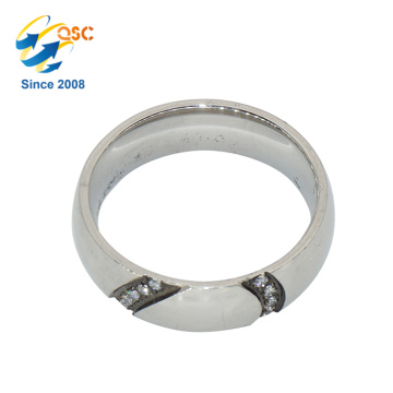Popular Fashion Design Cheap Sample Custom Made Stainless Steel Wedding Ring