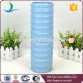 YSv0135-01 синяя высокая керамическая ваза