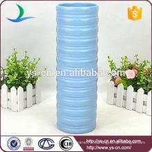 YSv0135-01 vaso alto de cerámica azul
