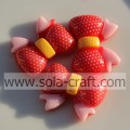 22*28MM Resin Colorful Bow Beads Wholesale Price
