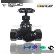 Чугун шаровой клапан винтовой конец не поднимающийся стержень шаровой клапан безопасность паропровод высококачественный материал