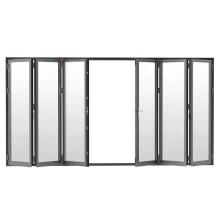 Puertas de la oficina de vidrio esmerilado francés puerta plegable