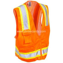 Unisex High Visibility Orange Glowear Vest