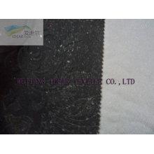 Tissu de Polyester floqué en relief pour la décoration