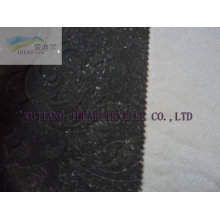 Embossed Flocked Polyester Fabric For Decoration