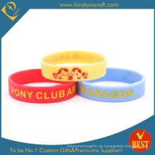 Benutzerdefinierte Silikon-Armbänder für die Werbung Geschenk (W0041)