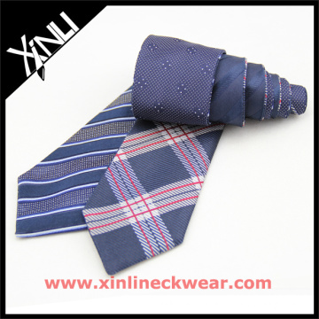 Customized Silk Woven Reversible in 4 Designs Factory Promotional Necktie