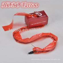 Venda quente plástico tatuagem vermelho clipe cabo mangas saco