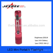 JEXREE mini led torch cree avec batterie AAA