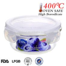 tigela de vidro resistente ao calor pequeno rodada comida de vidro transparente