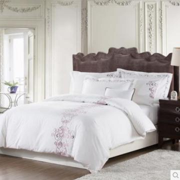 Canasin 5 Sterne Hotel Satin Plain Bettwäsche aus 100 % Baumwolle weiß