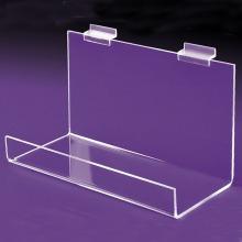 Grand plateau en acrylique transparent pour Slatwall Custom