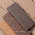 En gros en bois en plastique Wpc Co extrudé Composite Decking