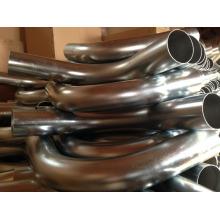 Courbe d'aspiration industrielle galvanisée à haute pression de 76mm de diamètre 90degree
