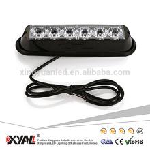 6 W 6 polegadas LEVOU luz estroboscópica para reboque offroad 4x4 carro flash waning luz SUV ATV sinal da motocicleta