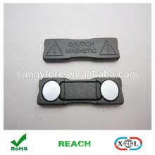 nouveau badge plastique produit noir