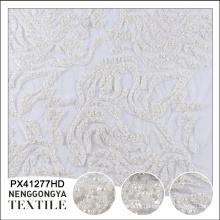 Китай OEM роскошное платье шаблон для цветка из бисера вышитые ткани