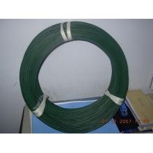 Alambre recubierto de PVC electro galvanizado del hierro