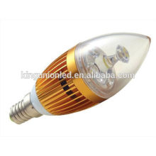 Différents types de conception de modèles en aluminium / verre RGB LED Candle Light