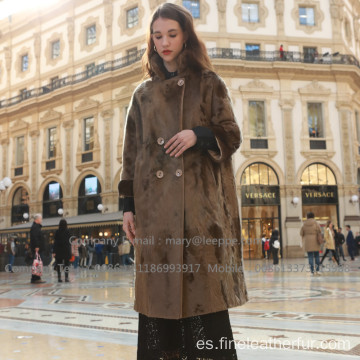 Mink Lady Overcoat Long In WInter