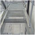 Piso de plataforma de barra de aço galvanizado