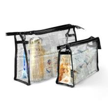 Impresión personalizada bolsa de PVC de plástico transparente para diversos usos