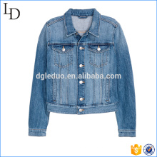 moda jaqueta jeans mulheres simples jaqueta de vida personalizado