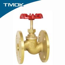 """6"""" brass globe valve/stop valve flange end"""