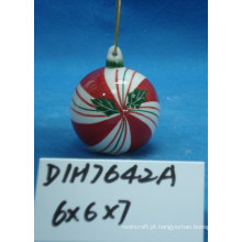 Bola cerâmica decorativa da árvore de natal