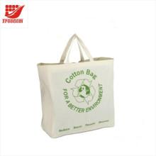 Sacos de algodão baratos personalizados relativos à promoção do logotipo